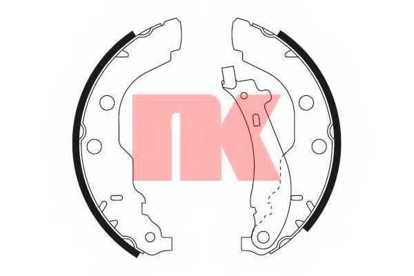 Комплект тормозных колодок для CITROEN XSARA(N1) / PEUGEOT 406(8B,8C,8E/F) <b>NK 2737582</b> - изображение