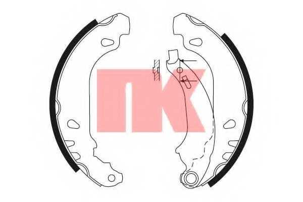Комплект тормозных колодок для PEUGEOT 206(2A/C,2E/K,T3E) <b>NK 2737636</b> - изображение
