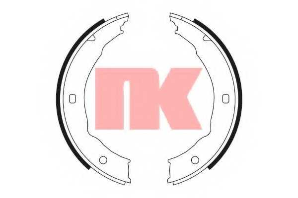 Комплект тормозных колодок для CITROEN XSARA(N1) / FORD TRANSIT TOURNEO / PEUGEOT 406(8B,8C,8E/F), 607(9D,9U) <b>NK 2737655</b> - изображение