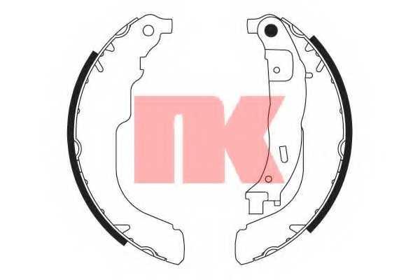 Комплект тормозных колодок для CITROEN C3, DS3 / PEUGEOT 207(WA#,WC#,WK#) <b>NK 2737741</b> - изображение