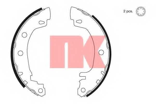 Комплект тормозных колодок для RENAULT MEGANE(BA0/1#, BZ0#, DA0/1#, DZ0/1#, EA0/1#, LA0/1#) <b>NK 2739581</b> - изображение