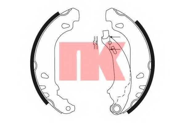 Комплект тормозных колодок для RENAULT CLIO(BB0/1/2#, CB0/1/2#, SB0/1/2#), LOGAN(LS#), SANDERO/STEPWAY, THALIA(LB0/1/2#, LU1/2#) <b>NK 2739637</b> - изображение