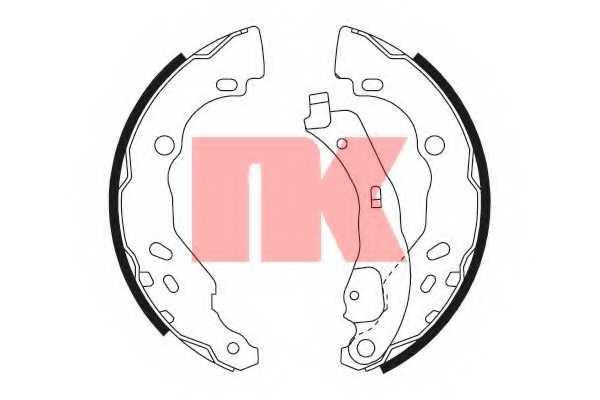 Комплект тормозных колодок NK 2739690 - изображение