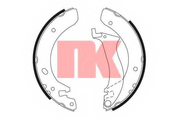Комплект тормозных колодок NK 2740634 - изображение