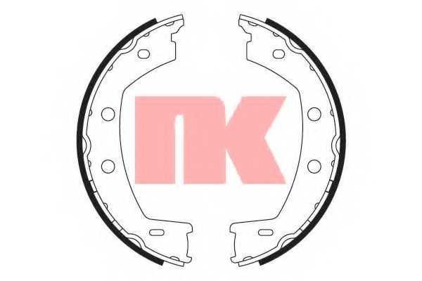 Комплект колодок стояночной тормозной системы NK 2740768 - изображение