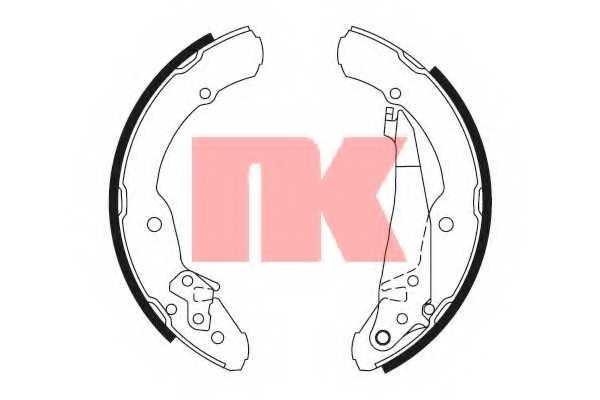 Комплект тормозных колодок NK 2743631 - изображение