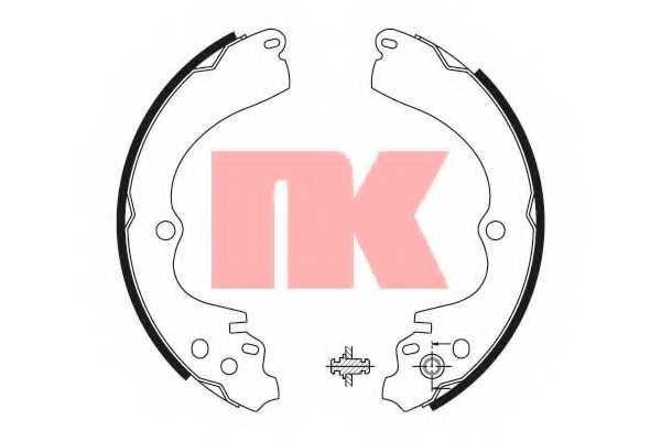 Комплект тормозных колодок NK 2744551 - изображение