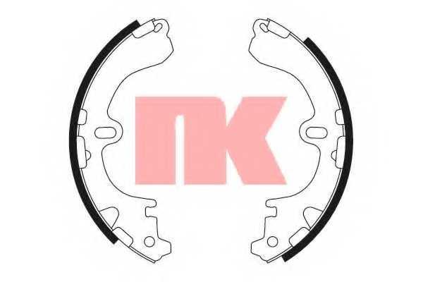 Комплект тормозных колодок для HYUNDAI PONY / EXCEL(X-2) / TOYOTA COROLLA(##E11#, #E10#, #E11#, #E9#) <b>NK 2745501</b> - изображение