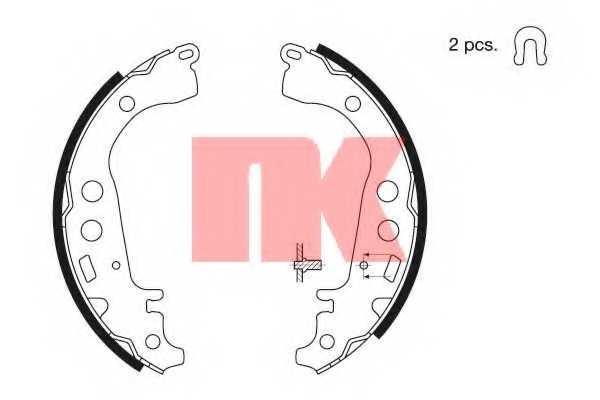 Комплект тормозных колодок для TOYOTA CELICA, IQ, PRIUS, YARIS <b>NK 2745617</b> - изображение