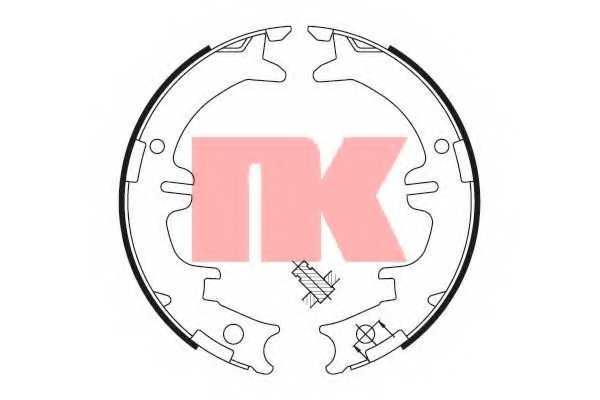 Комплект колодок стояночной тормозной системы NK 2745644 - изображение