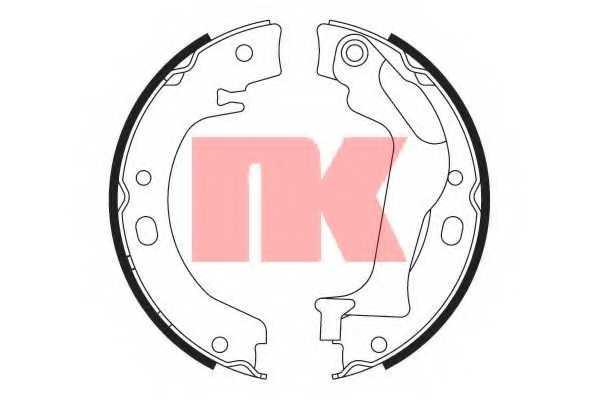 Комплект колодок стояночной тормозной системы NK 2745748 - изображение