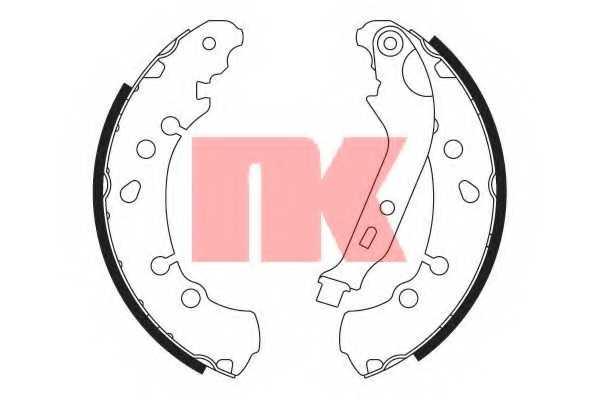 Комплект тормозных колодок для TOYOTA YARIS(KSP13#, KSP9#, NCP13#, NCP9#, NHP13#, NLP13#, NSP13#, NSP9#, SCP9#, ZSP9#) <b>NK 2745781</b> - изображение