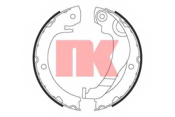 Комплект колодок стояночной тормозной системы NK 2745786 - изображение
