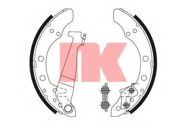 Комплект тормозных колодок NK 2747345 - изображение