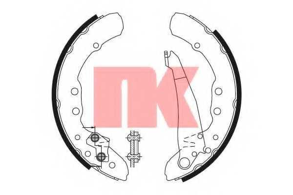 Комплект тормозных колодок для AUDI 100, 80, COUPE / VW CADDY, GOLF, JETTA, PASSAT <b>NK 2747530</b> - изображение