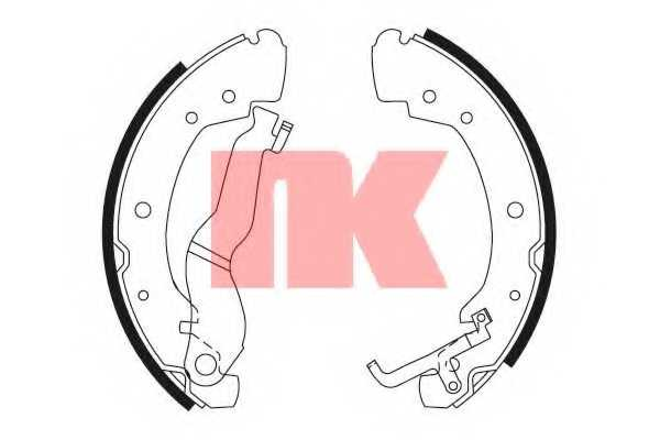 Комплект тормозных колодок для VW TRANSPORTER(70XA, 70XB, 70XC, 70XD, 7DB, 7DK, 7DW) <b>NK 2747549</b> - изображение