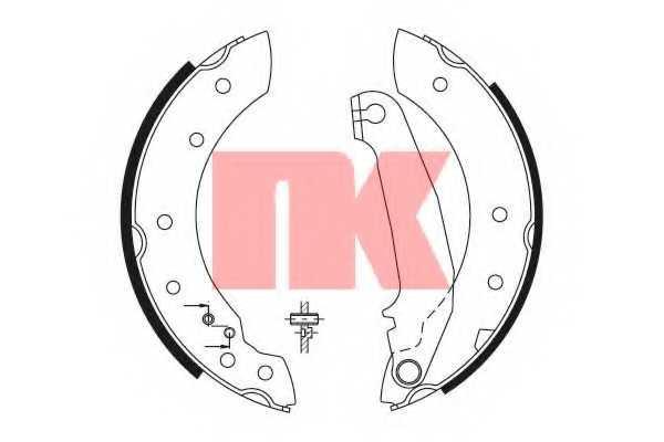 Комплект тормозных колодок NK 2748516 - изображение
