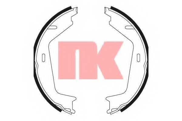 Комплект колодок стояночной тормозной системы NK 2748733 - изображение