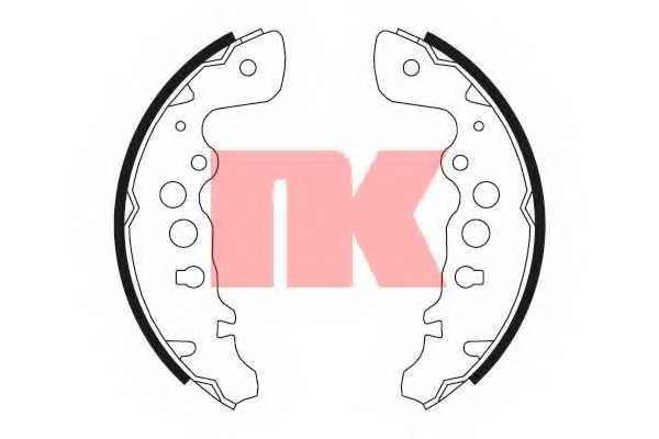 Комплект тормозных колодок для SUZUKI CAPPUCINO(EA), GRAND VITARA(FT,GT,JT) <b>NK 2752608</b> - изображение