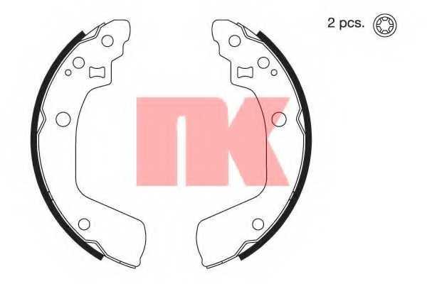 Комплект тормозных колодок для SUZUKI SWIFT(EZ,MZ) <b>NK 2752806</b> - изображение