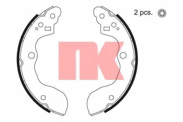 Комплект тормозных колодок для SUZUKI SX4(EY,GY) <b>NK 2752821</b> - изображение