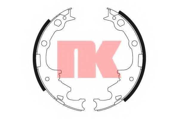 Комплект тормозных колодок NK 2793630 - изображение