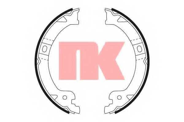 Комплект колодок стояночной тормозной системы NK 2793724 - изображение