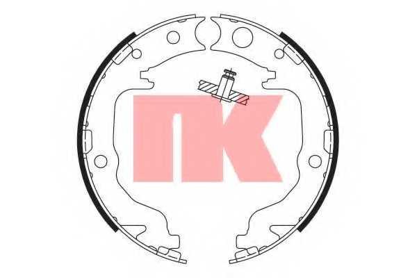 Комплект колодок стояночной тормозной системы NK 2793799 - изображение