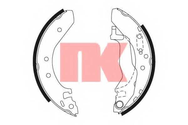 Комплект тормозных колодок для HONDA CIVIC(EG,EJ,EK,MA,MB,MC), CONCERTO(HW,HWW,MA) <b>NK 2799527</b> - изображение