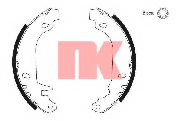 Комплект тормозных колодок для CITROEN XSARA(N0,N1,N2), ZX(N2) / PEUGEOT 306(7#,7A,7B,7C,7D,N#,N3,N5) <b>NK 2799545</b> - изображение