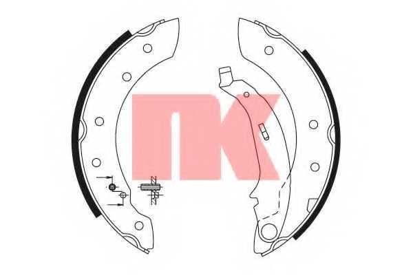 Комплект тормозных колодок NK 2799572 - изображение