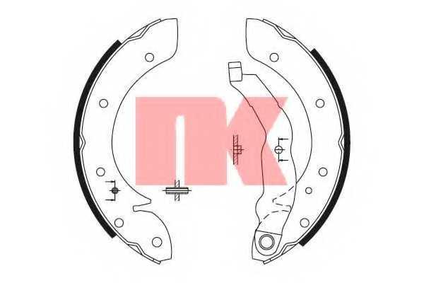 Комплект тормозных колодок для RENAULT LAGUNA(K56#), MEGANE(BA0/1#,JA0/1#,KA0/1#), SCENIC(JA0/1#) <b>NK 2799575</b> - изображение