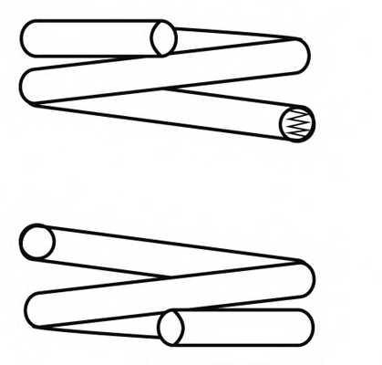Пружина ходовой части NK 543220 - изображение