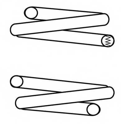 Пружина ходовой части NK 544318 - изображение