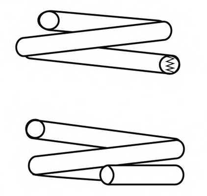 Пружина ходовой части NK 544736 - изображение