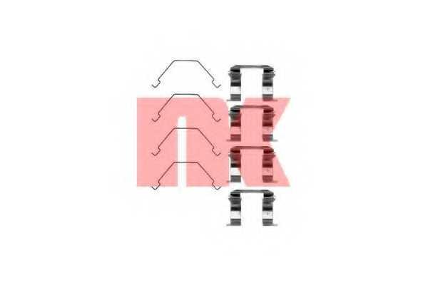 Комплектующие колодок дискового тормоза NK 7932158 - изображение