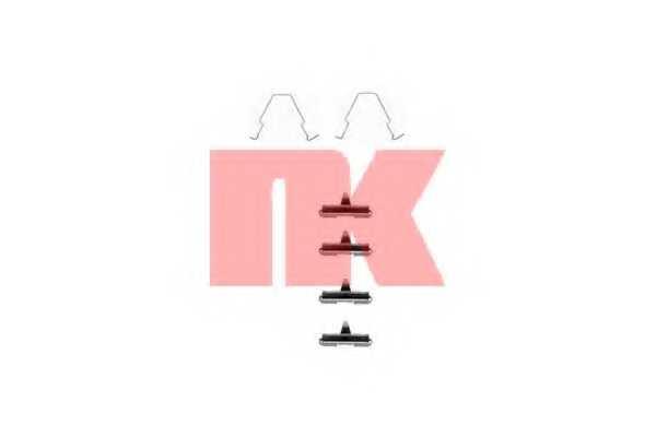 Комплектующие колодок дискового тормоза NK 7932270 - изображение