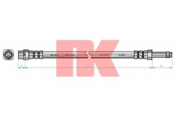 Тормозной шланг NK 851511 - изображение 1