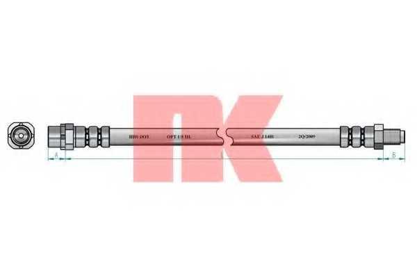 Тормозной шланг NK 851521 - изображение