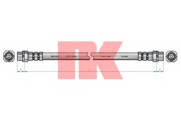 Тормозной шланг NK 851524 - изображение