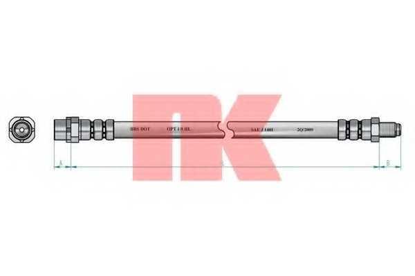Тормозной шланг NK 851525 - изображение