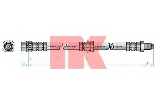 Тормозной шланг NK 851526 - изображение