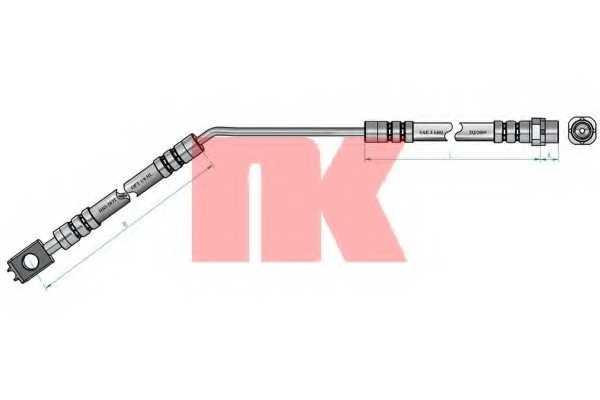 Тормозной шланг NK 851527 - изображение