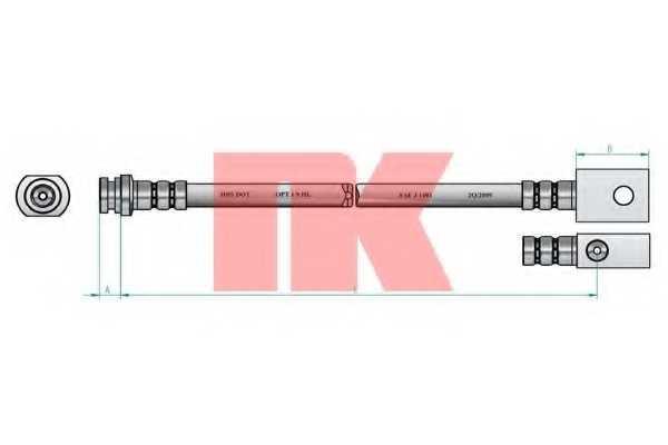 Тормозной шланг NK 8522105 - изображение 1