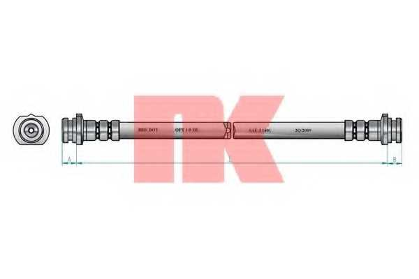 Тормозной шланг NK 8522107 - изображение 1