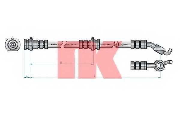 Тормозной шланг NK 8522112 - изображение