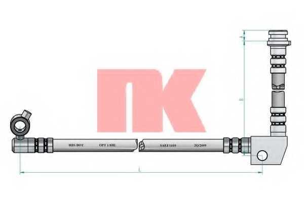 Тормозной шланг NK 852248 - изображение