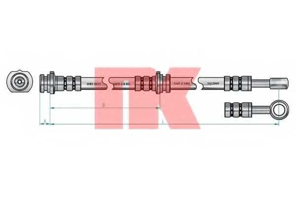 Тормозной шланг NK 852250 - изображение