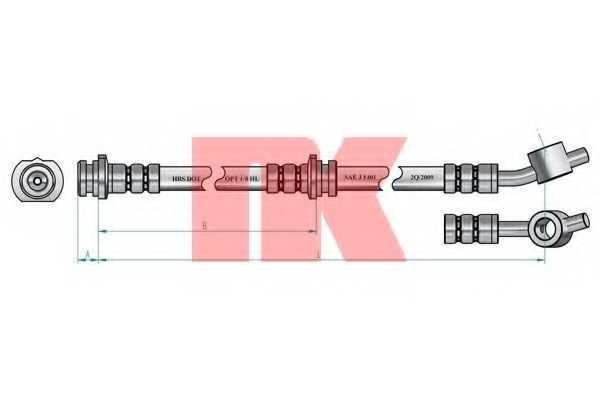 Тормозной шланг NK 852251 - изображение