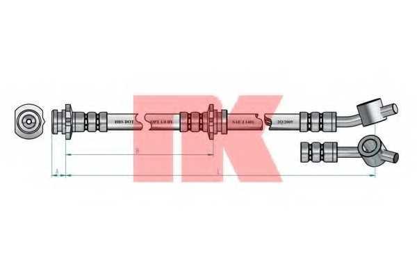 Тормозной шланг NK 852252 - изображение 1